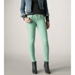 American Eagle Skinny Jeans Size 10 Green Stretch